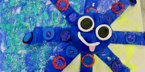 How to make an octopus using a recycled plastic bottle
